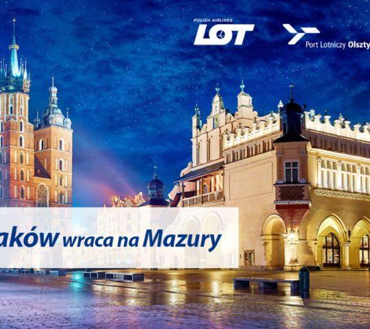 Od kwietnia polecimy z Mazur do Krakowa